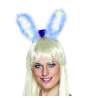 Orecchie da coniglio blu luminose