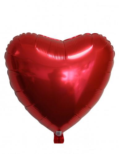Palloncino in alluminio cuore rosso