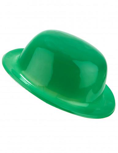 Cappello bombetta verde adulto
