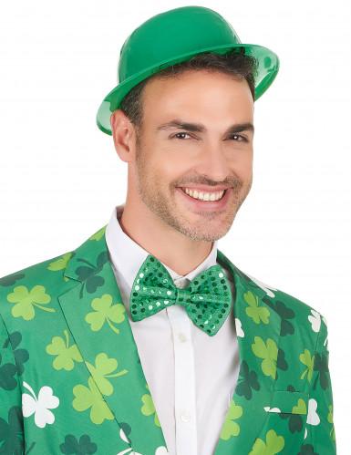 Cappello bombetta verde adulto-2