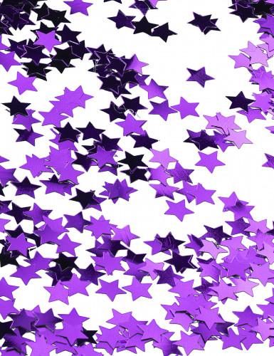 Coriandoli stelle metalliche viola