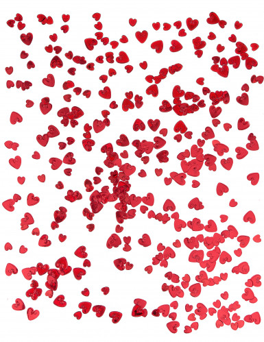 Coriandoli a cuori rossi in rilievo-1