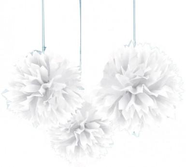 Decorazioni palle bianche da appendere