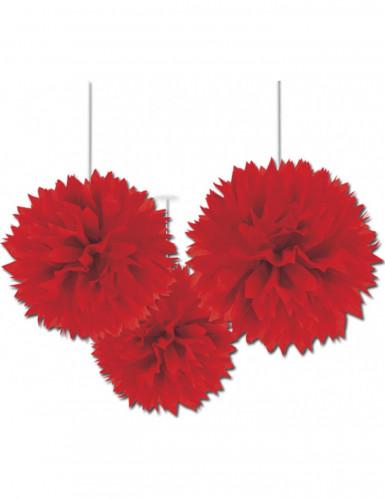 Decorazioni a palle rosse a soffitto