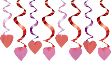 Decorazioni da appendere cuori rossi San Valentino