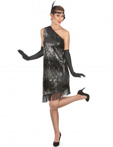 Costume anni 20 da donna nero e argento-1