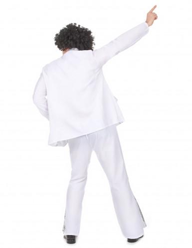 Costume da disco bianco e argento per uomo-2
