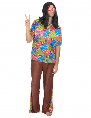 Costume Hippy multicolore per uomo
