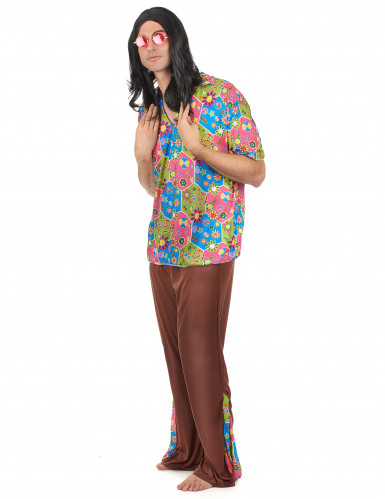 Costume Hippy multicolore per uomo-1