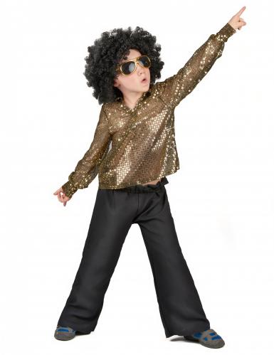Costume disco a paillettes oro bambino