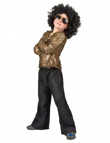 Costume disco a paillettes oro bambino-1