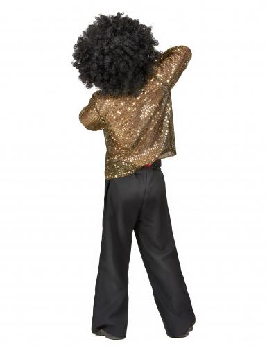 Costume disco a paillettes oro bambino-2