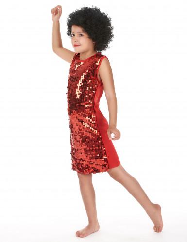 Costume disco bambina rosso con paillettes-1