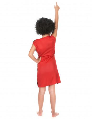 Costume disco bambina rosso con paillettes-2