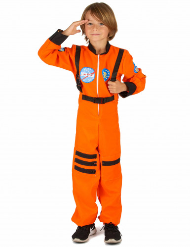 Costume tuta arancio da astronauta bambino