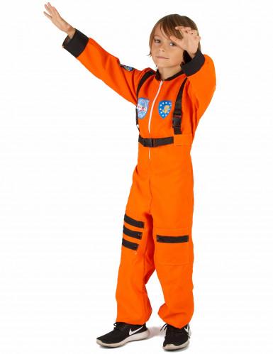 Costume tuta arancio da astronauta bambino-1