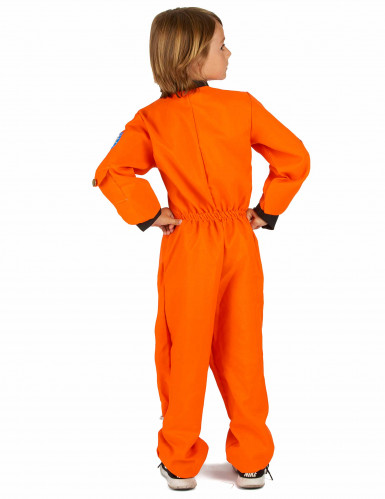 Costume tuta arancio da astronauta bambino-2