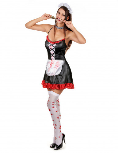 Costume da cameriera insanguinata donna Halloween
