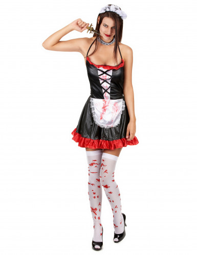 Costume da cameriera insanguinata donna Halloween-1