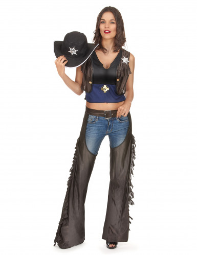 Costume da cowgirl sexy  con gambali per donna
