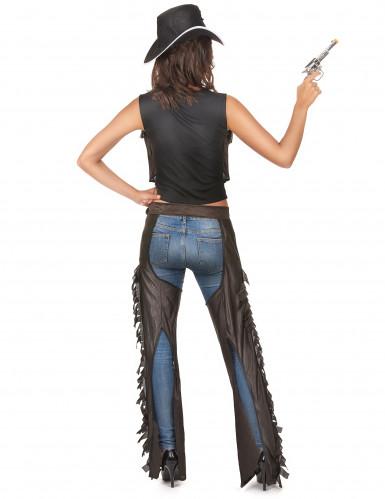 Costume da cowgirl sexy  con gambali per donna-2