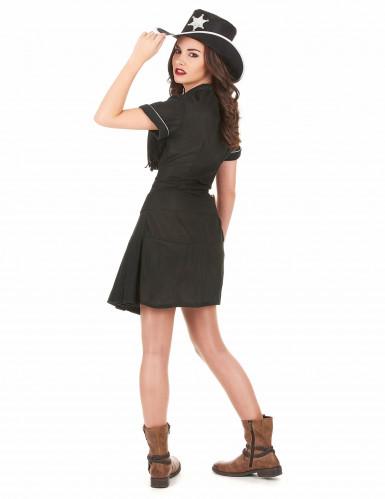 Costume cowgirl donna nero-2
