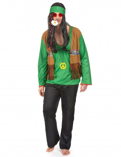 Costume hippie verde uomo