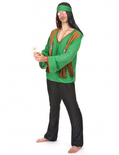 Costume hippie verde uomo-1