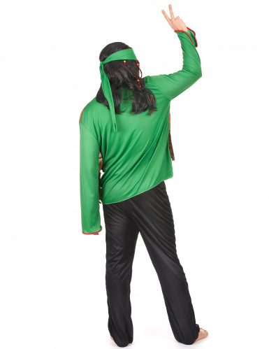Costume hippie verde uomo-2