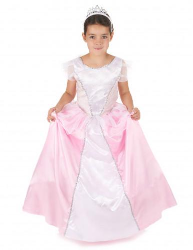 costume principessa bambina rosa e bianco