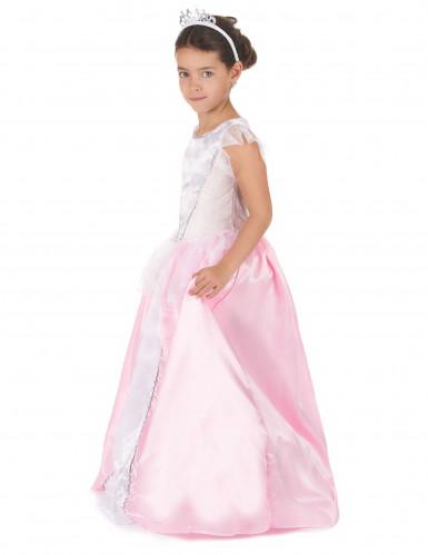 costume principessa bambina rosa e bianco-1