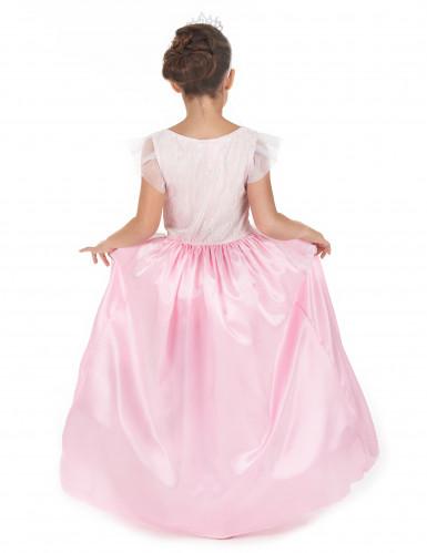 costume principessa bambina rosa e bianco-2