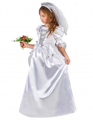 Costume da sposa bambina con velo-1