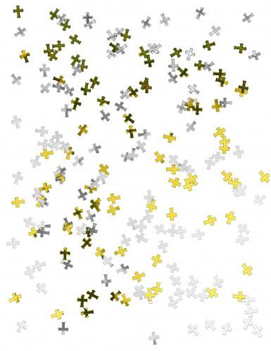 Coriandoli dorati ed argentati a croce-1