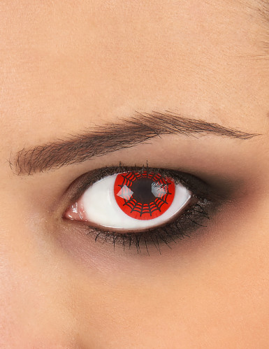 Lenti a contatto fantasia ragnatela nere e rosse