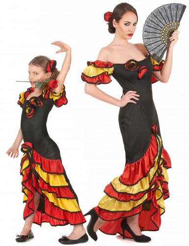 Costume coppia ballerina flamenco madre e figlia