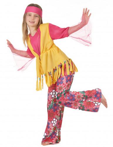 Costume coppia hippie dei fiori madre e figlia-2