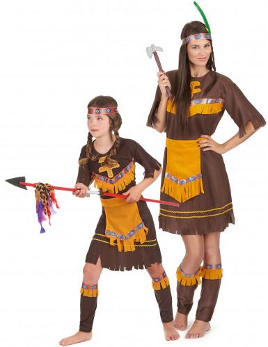 Costume coppia di indiane madre e figlia