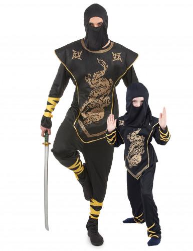 Costume di coppia da ninja per padre e figlio