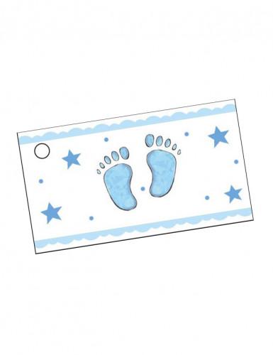10 Etichette per confetti Battesimo bimbo