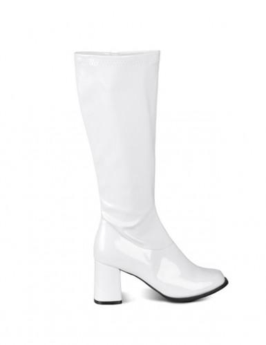 Stivali bianchi vernice donna