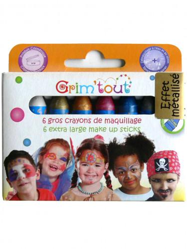 6 matite trucco colori metallizzati Grim' Tout
