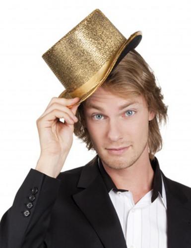 Cappello cilindro dorato adulto
