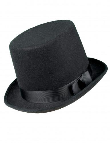 Cappello a cilindro nero da adulto-1