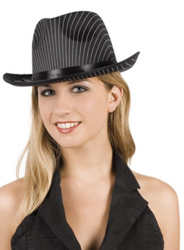 Cappello gangster a righe adulto