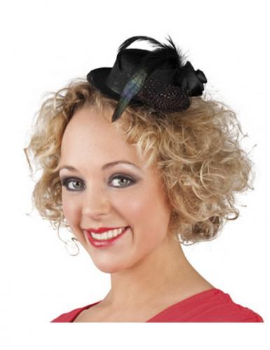 Mini cappello nero donne