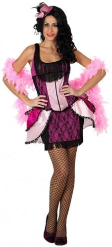 Costume ballerina di cabaret rosa donna