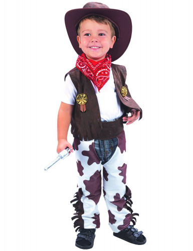 Costume eroe cowboy lusso bambino