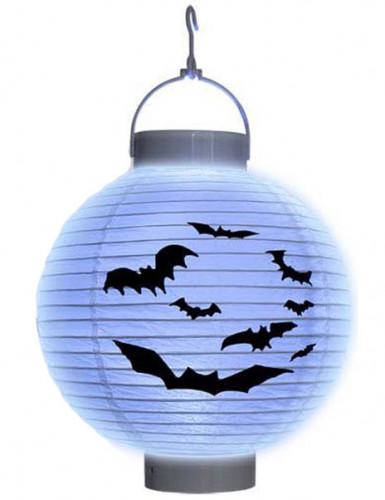 Lanterna luminosa con pipistrelli Halloween