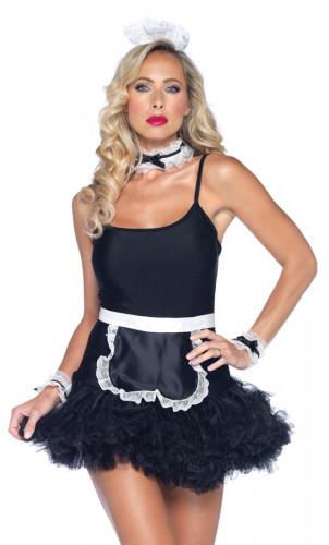 Kit cameriera sexy nero donna